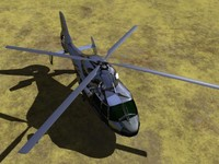 3d realistic dolphin-82 helicopter model
