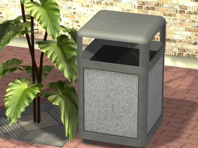 trash trashcan 3d 3ds