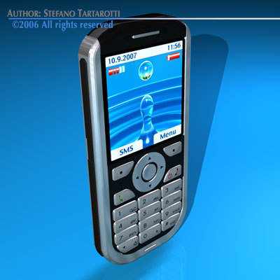 3d generic mobile phone model