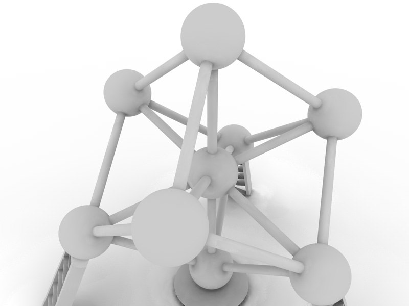 atomium expo brussel 3d model