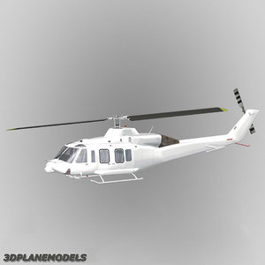 3d max 214st helicopter generic white