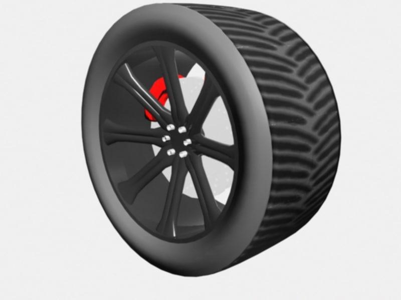 3d road racing tire wheel