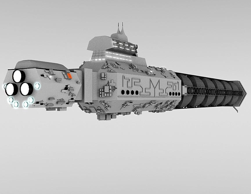 space freighter 3d lw