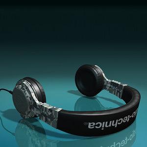 3ds max ath-pro700 headphones