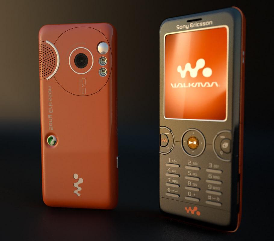 sony ericsson w610i 3d model