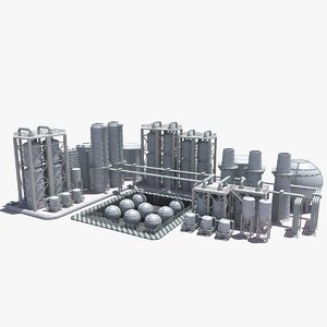 3d model refinery construction