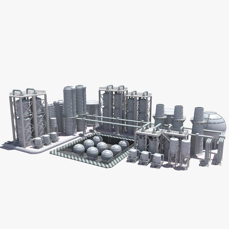 3d model refinery construction