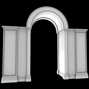 3d model arches gate