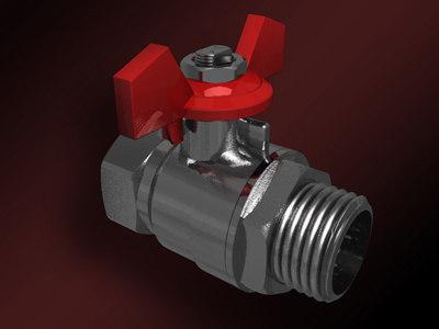 3d model globe valve