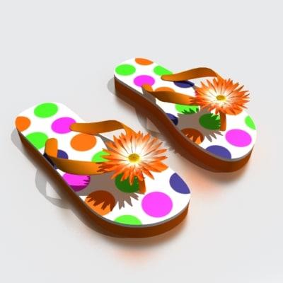 slipper slipper02 3d model