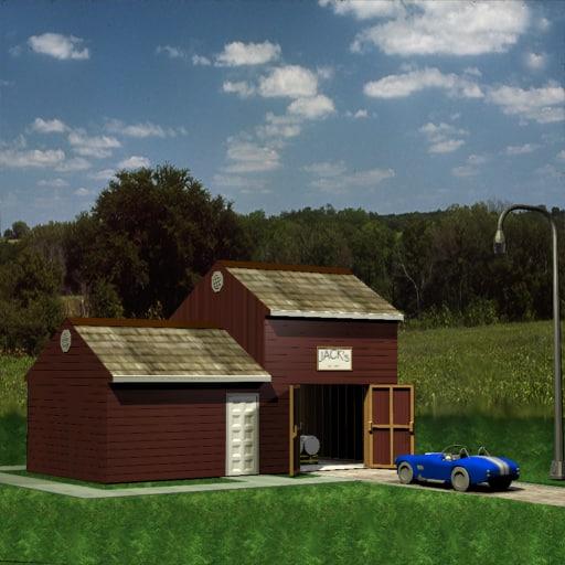 3d model garage structure jacks