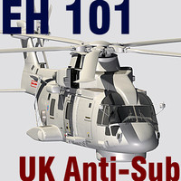 ehi eh-101 merlin helicopter c4d