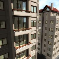 3d apartments flats model