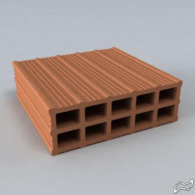 3ds max brick holes