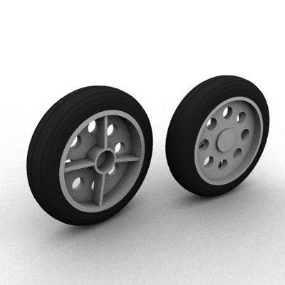 wheel small toy 3d model