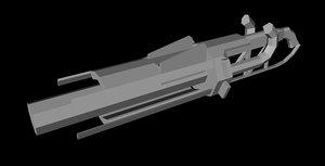 3d model bazooka rocket launcher