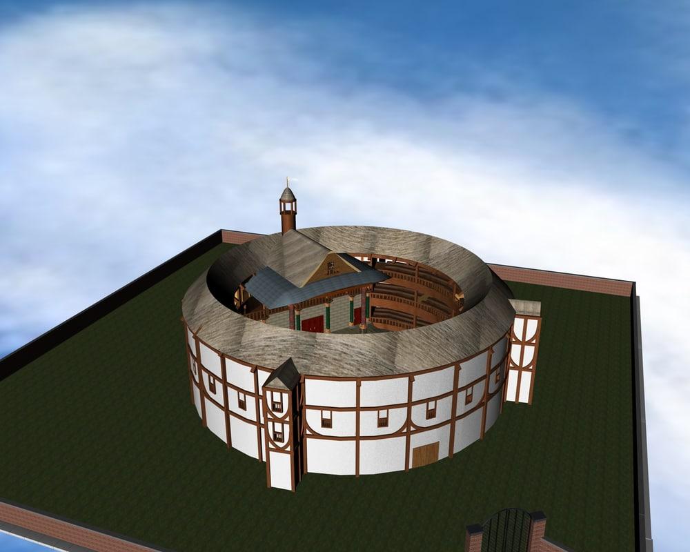 Theater theatre 3d model for Theatre model