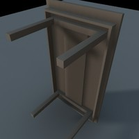 free table nails 3d model