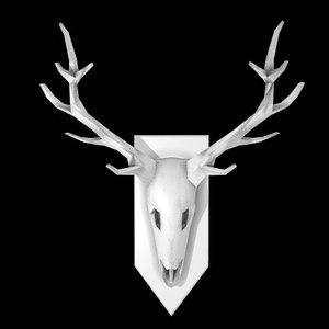 3d red deer model