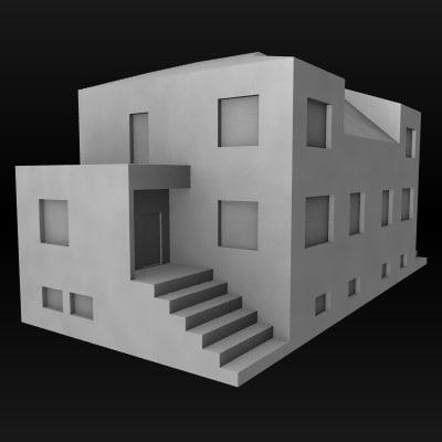 house building 3d lwo