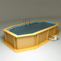 Garden Swimming Pool Tx 8x4m