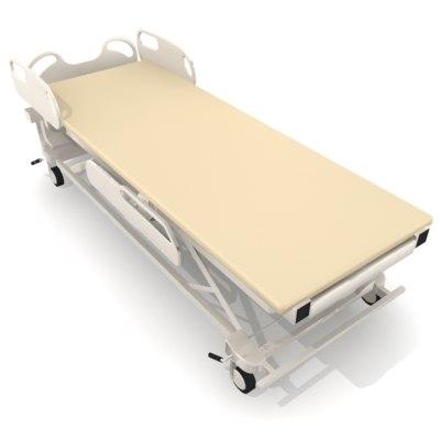 patient bed 3d model