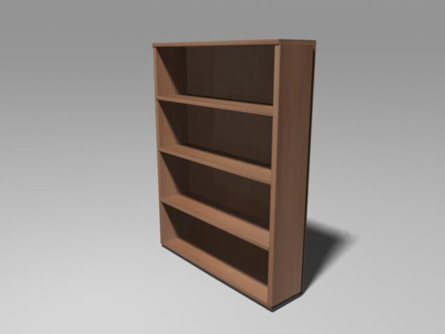 bookcase shelves 3d ma