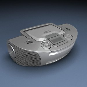 3d cd player model