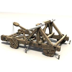 3d model katapult balliste