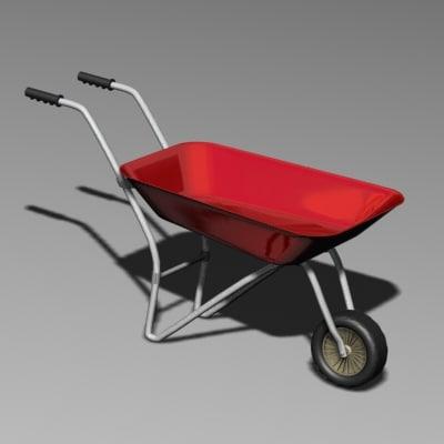 wheel barrow 3d max