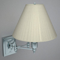 polished swing arm sconce 3d 3ds