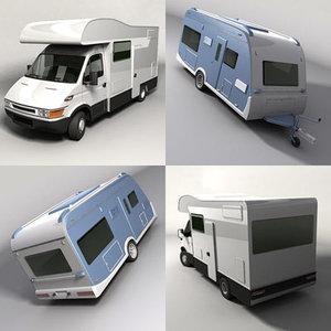 3ds max caravan camper