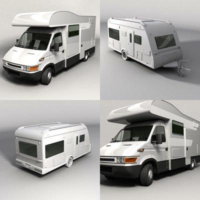 3d caravan camper