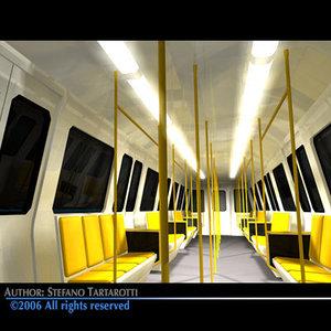 subway train 3d c4d