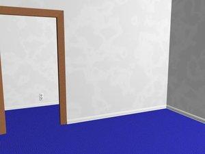 free ma mode room baseboards blue