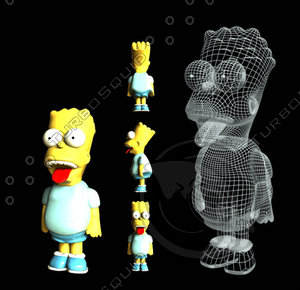 free bart simpsons 3d model