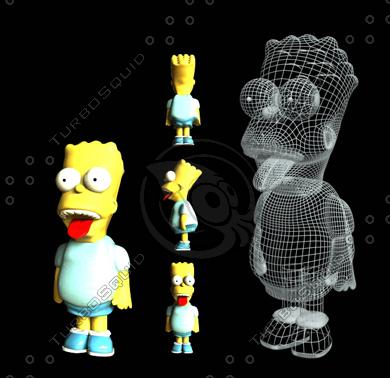 free bart simpsons 3d model