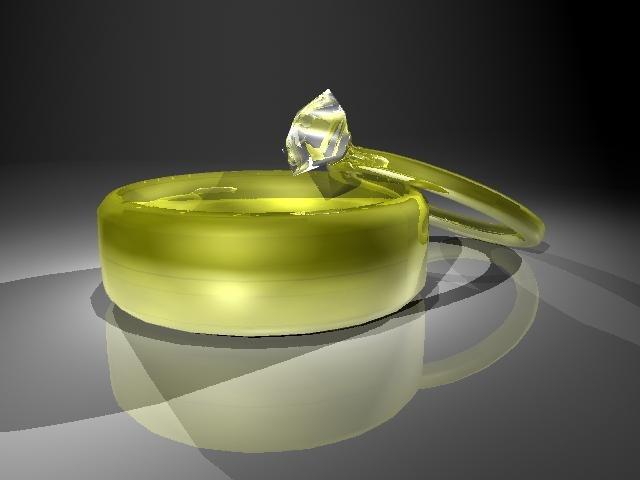 3d model gold wedding ring