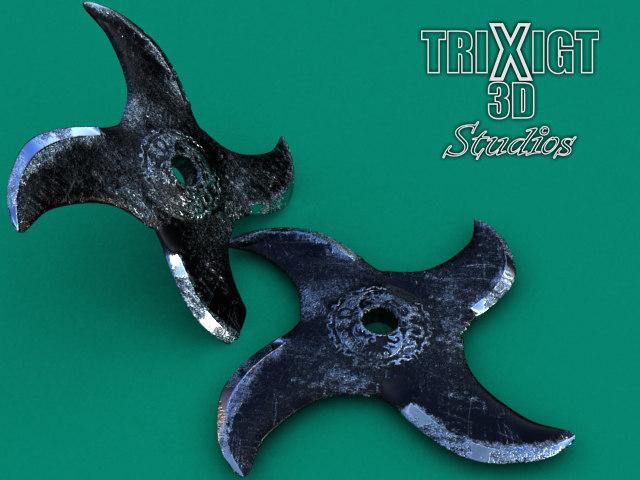 shuriken old 3d max