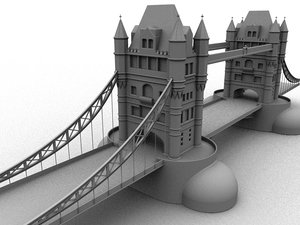 3d london bridge