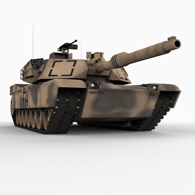 m1 abrams battle tank 3d model