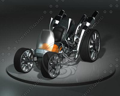 3ds max old quad bike