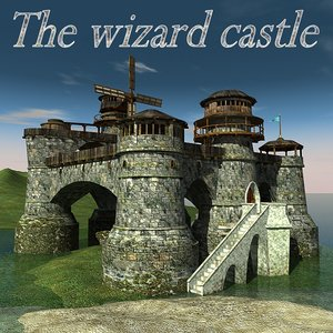 3d model castle wizard