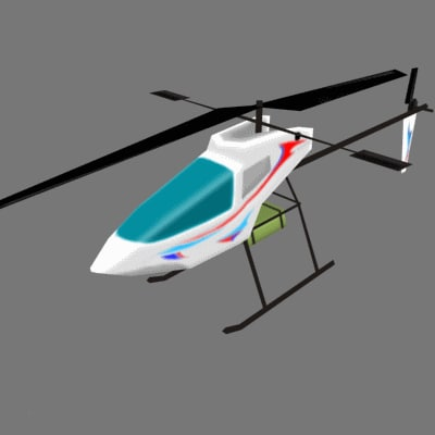 3d toy helicopter