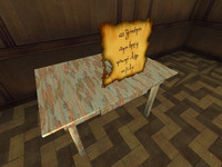 Table with animated drawer and map (FPSC- and game-ready)
