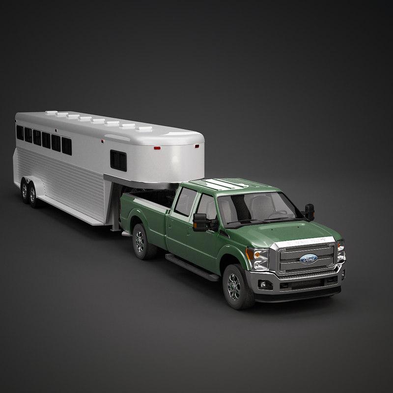 horse trailer 3ds