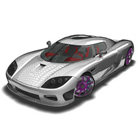 supercar sportscars car 3d model