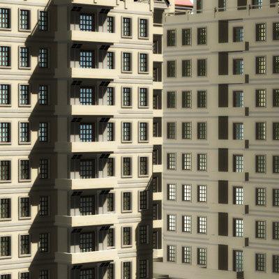 blocks apartments 3ds