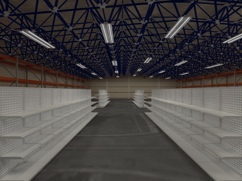 warehouse interiors 3d model