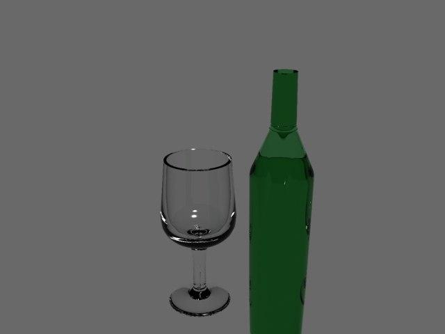 wine scene 3d max